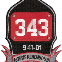 9-11 Always Remembered Patch