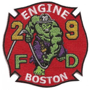 Boston Engine 29 Hulk Design Patch
