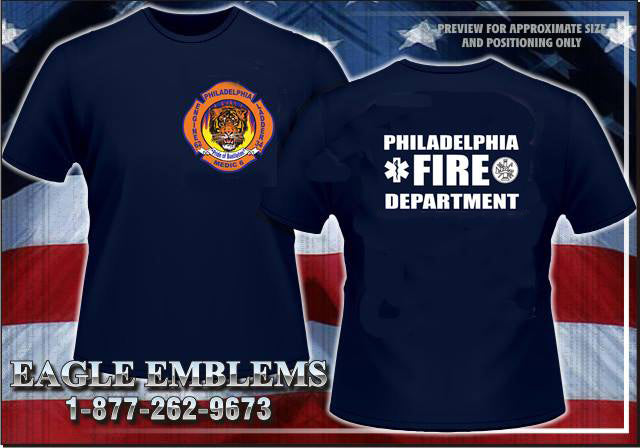 Philadelphia Engine 62 Navy Station Tee