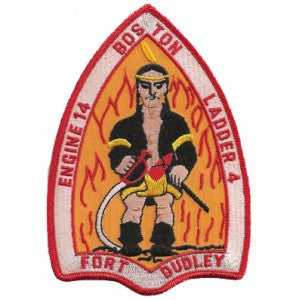 Boston Engine 14 Ladder 4 Indian Design Patch