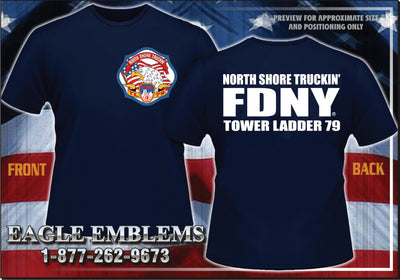 FDNY Tower Ladder 79 North Shore Truckin' Tee (Small & Medium Only)