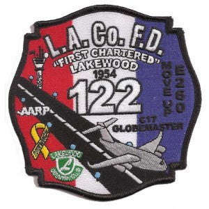 LA County Station 122 Patches