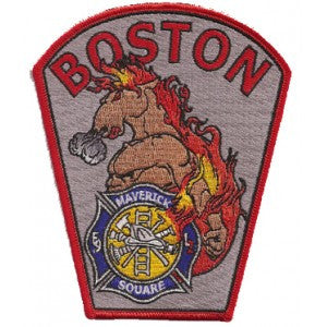 Boston Engine 9 Maverick Square Patch - Dept. Shape