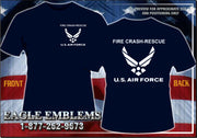US AIR FORCE CRASH RESCUE TEE SHIRT