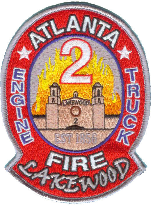 Atlanta Fire Engine 2 Truck LAKEWOOD Fire Patch