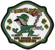 Anne Arundel County, MD Emerald Society Pipes & Drums Maltese Fire Patch