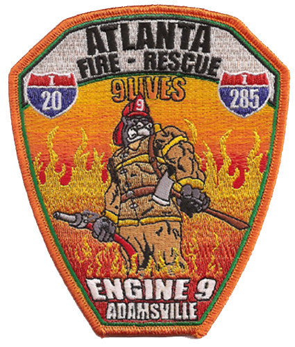 Atlanta  Fire Rescue Station 9 Patch