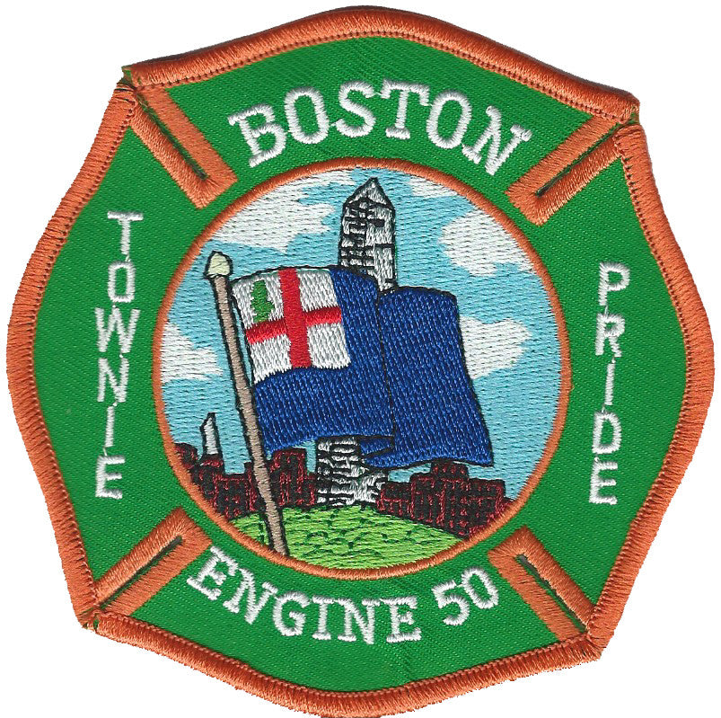 BOSTON FIRE DEPT. ENGINE 50 TOWNIE PRIDE FIRE PATCH