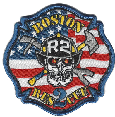 Boston Rescue 2  FLAG Design Patch