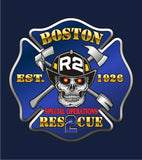 Boston  Rescue 2  Multicolor Navy Tee