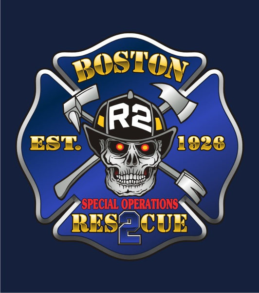 Boston Rescue 2 Multicolor Navy Tee Eagle Emblems Amp Graphics