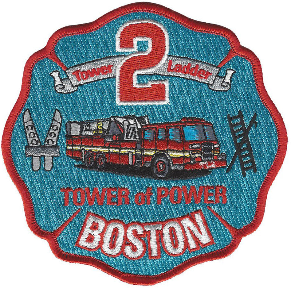 BOSTON  FIRE DEPT. TOWER  LADDER 2 PATCH