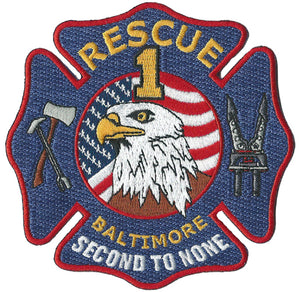 Baltimore City Rescue 1 Second To None Fire Patch