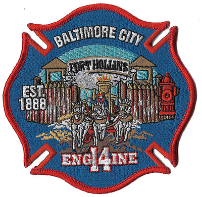 Baltimore City Engine 14 Ft. Hollins Fire Patch