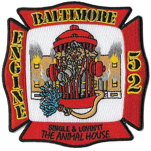 Baltimore Engine 52 The Animal House Patch