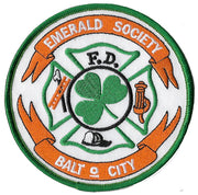 Baltimore City Pipes & Drums Emerald Society Fire  Patch