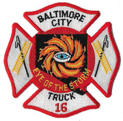 Baltimore City Truck 16 Eye of the Storm Patch