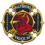 Baltimore City Truck 30 RED DEVILS New Design Patch