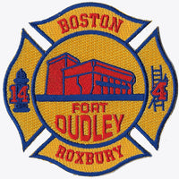 Boston Engine 14 Ladder 4 Roxbury Fort  Dudley Fire Patch