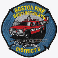 Boston District 5 Huntington Ave. Fire Patch