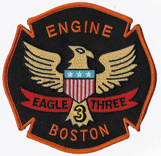 Boston Engine 3 Eagle-3 Fire Patch