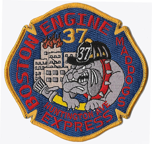 Boston Engine 37 Mad Dogs Huntington Ave. Express Fire Patch