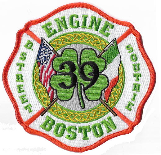Boston Engine 39 Shamrock Fire Patch