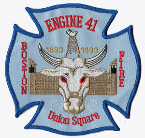 Boston Fire Department Engine 41 Union Square Fire Patch