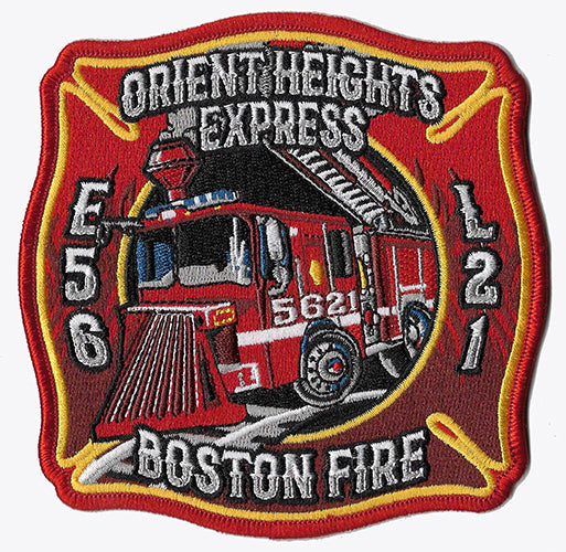 Boston Engine 56 Ladder 21 Orient Heights New Fire Patch