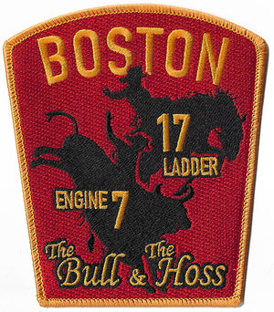 Boston Engine 7 Ladder 17 House Patch Bull & Hoss Fire Patch