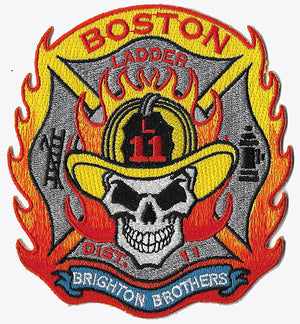 Boston Ladder 11 District 11 Skull Design Fire Patch