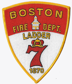 Boston Ladder 7 Red-White Fire Patch