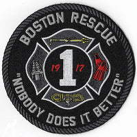 Boston Fire Rescue 1 Nobody Does It Better Fire Patch