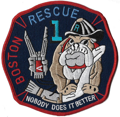 Boston Rescue 1 Nobody Does It Better Bulldog Navy Fire Patch