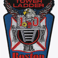 Boston Tower Ladder 10 Patch Black Top Fire Patch