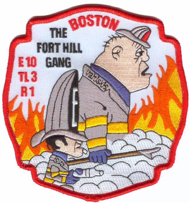 BOSTON FIre E10 TL3 R1 Fort Hill Gang