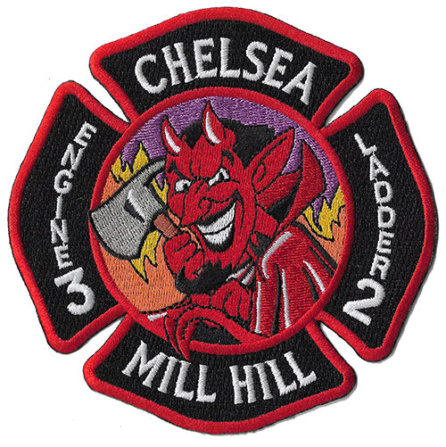 "Chelsea, MA  E3 L 2 Mill  Hill""Red Devil"" Fire  Patch"