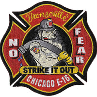 Chicago Engine 16 No Fear Red Strike It Out Fire Patch