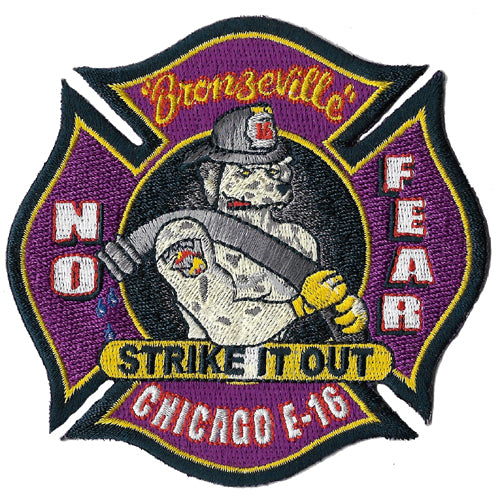 Chicago Engine 16 Strike It Out Purple Design Fire Patch
