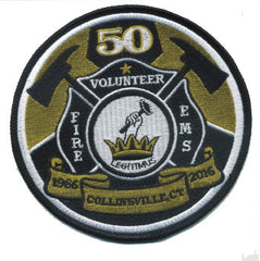 COLLINSVILLE, CT. FIRE EMS VOLUNTEER 50 FIRE PATCH