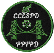 Contra Costa, CA. Pipes & Drums Emerald Society Fire Patch