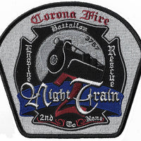 Corona, CA Station 2 Night Train Fire Patch