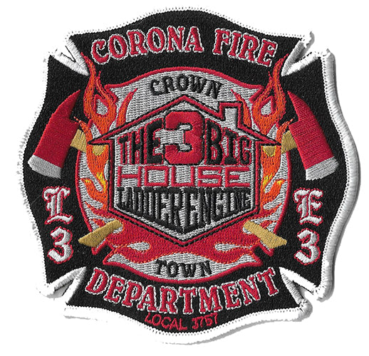 Corona, CA Station 3 The Big House Crown Town Fire Patch