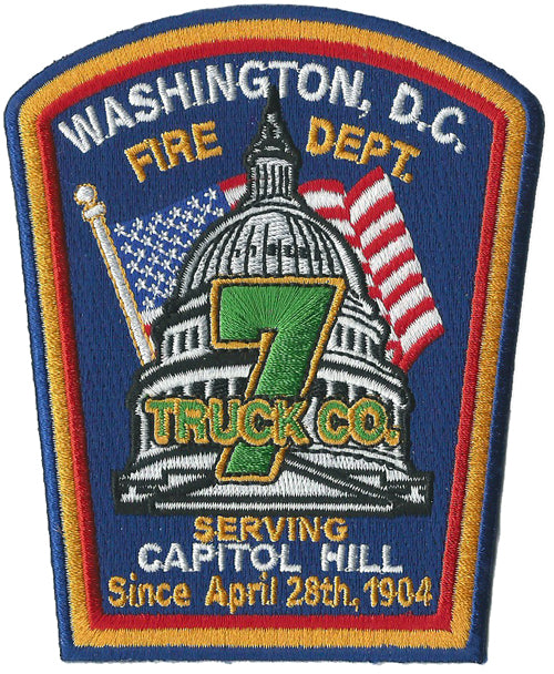 DCFD Truck 7 Serving Capitol Hill Fire Patch