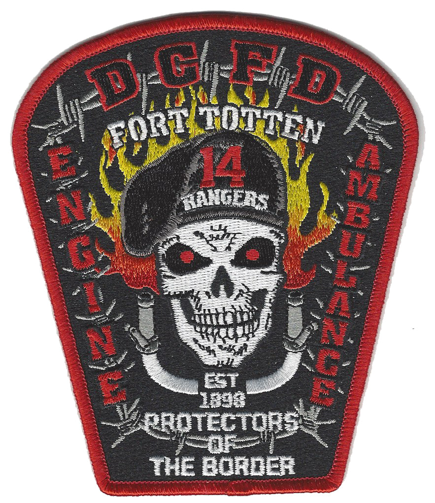 DCFD ENGINE 14 FIRE PATCH