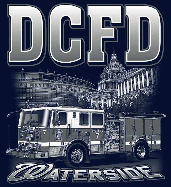 DCFD Engine 7 Navy Tee