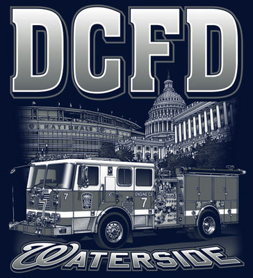 DCFD Engine 7  National's Stadium/Capital Building  Navy Tee