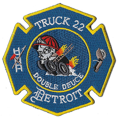Detroit Truck 22 Double Deuce FLAME Fire Patch