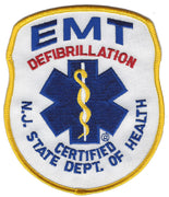 EMT Defibrillation Certified NJ State Dept. Of Health Fire Patch