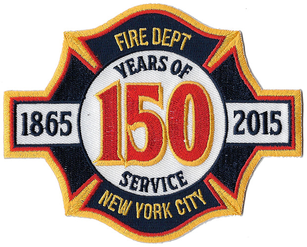 New York City 150th Anniversary Maltese Design Fire Patch